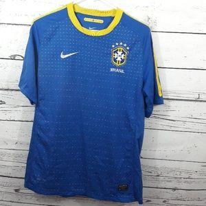 Gorgeous NIKE Brazil Brasil CBF soccer Jersey M